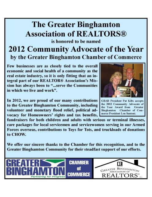 GBAR Wins 2012 Community Advocate of the Year Award!